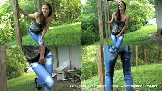 Autumn Soaks Her Jeans