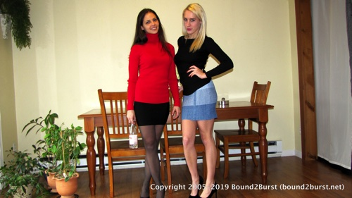 Cali Logan & Cadence Lux: Battle of the Bladders Enhanced