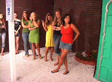 Line at the Ladies